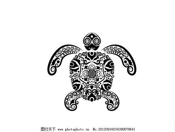 矢量花纹动物 手绘动物花纹