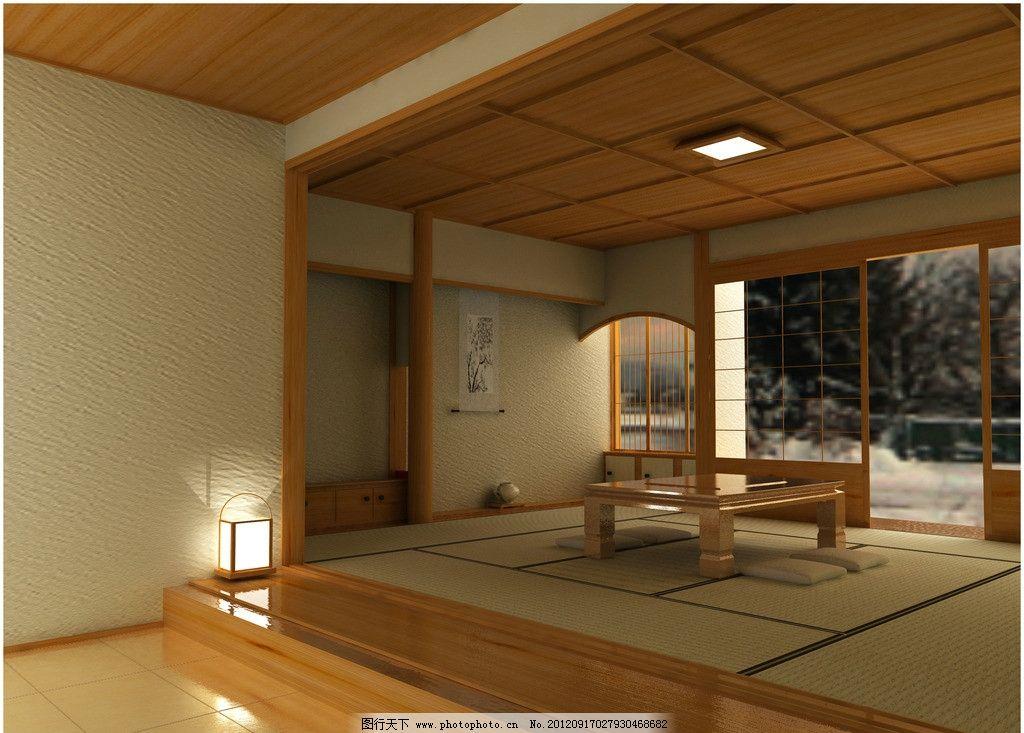 家装效果图 餐厅设计 榻榻米 榻榻米风格 木屋 装修效果图 室内设计