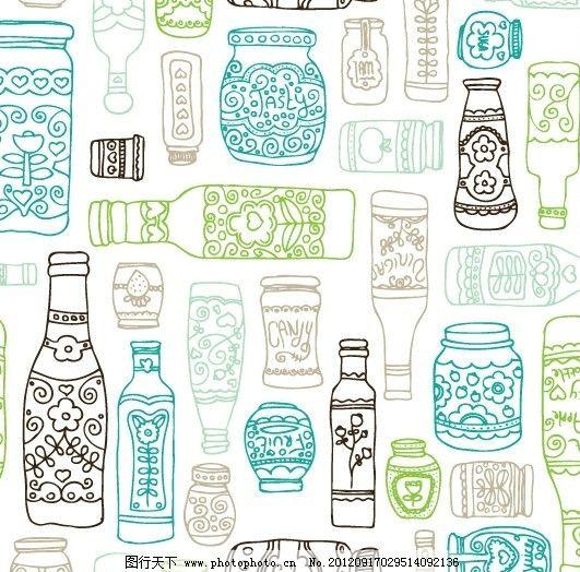 手绘卡通瓶子图片