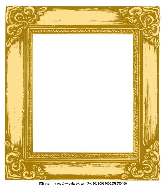 欧式镜框矢量素材