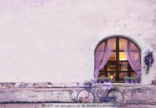 欧式手绘窗外风景油画