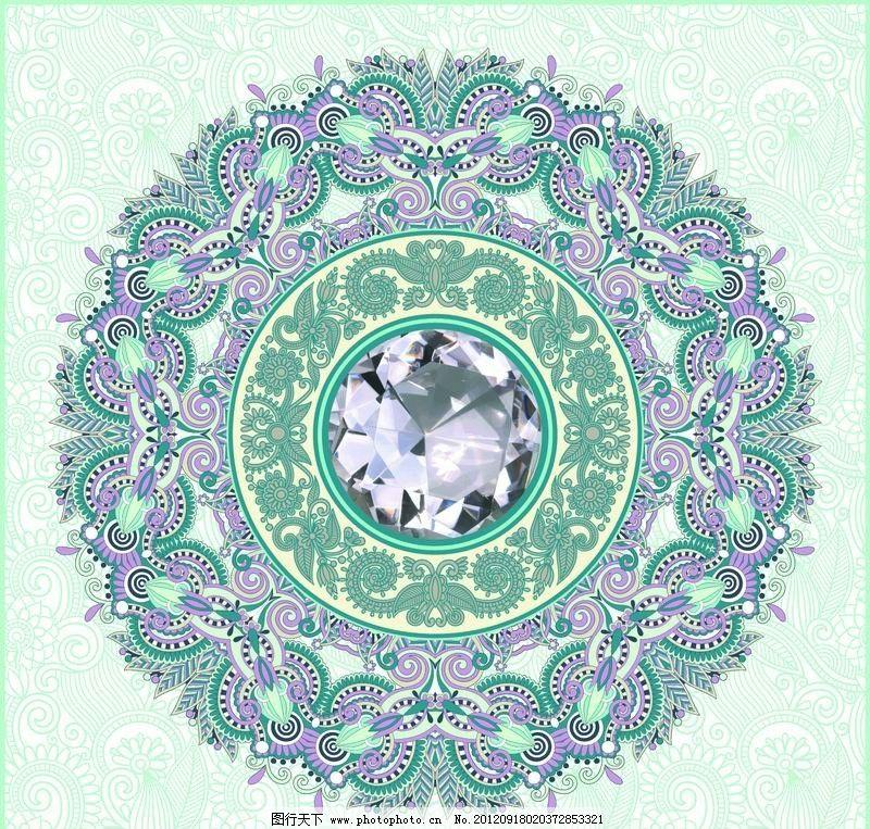 宝石欧式花纹 古典花纹图片
