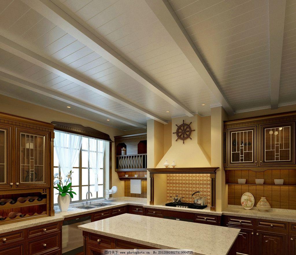 集成吊顶效果图 厨房 欧式 奢华 高档 简单 干净