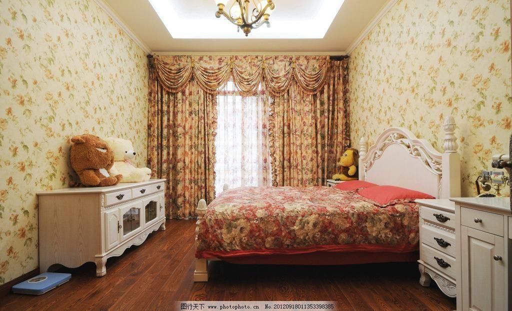 卧室图片免费下载 300dpi tif 儿童房 建筑园林 木地板 木纹 摄影