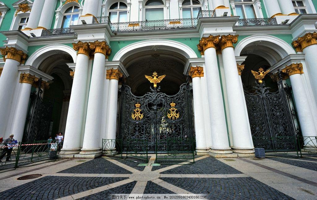 欧式建筑 欧式 建筑 法国 铁门 白色建筑 建筑景观 自然景观 摄影