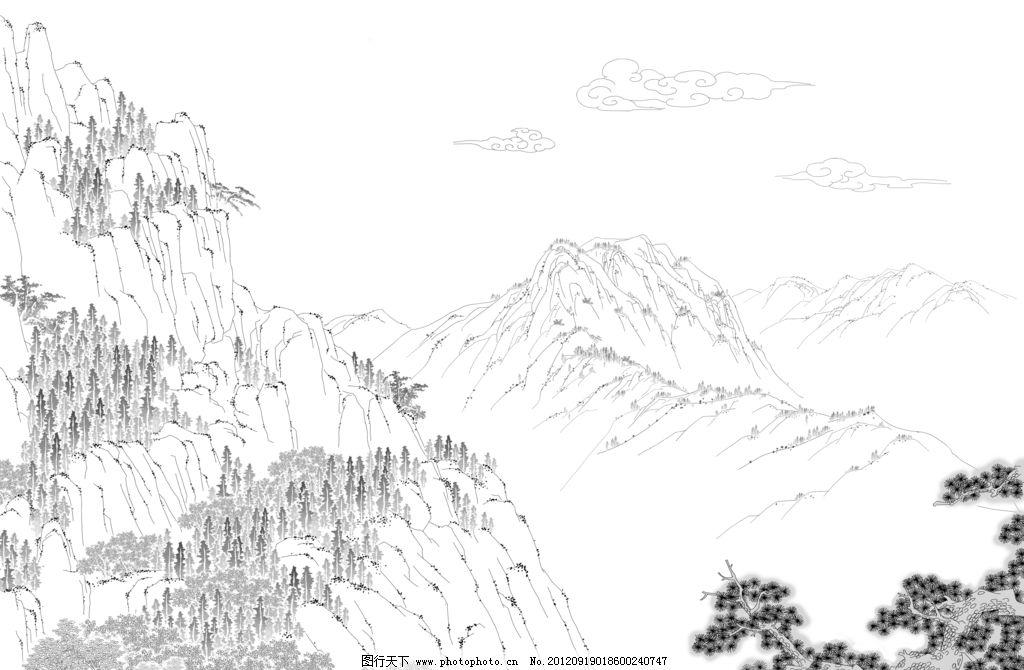 动画场景 中国 山水 重山