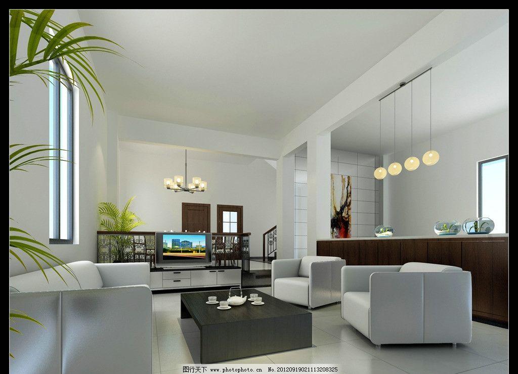 客厅效果图 大理石背景 木地板 沙发 欧式吊灯 富贵装修 时尚室内图片