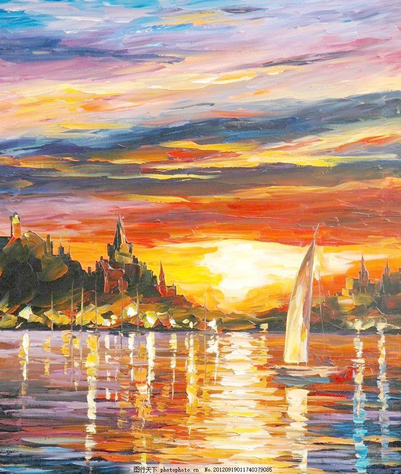 海边城堡 油画风景 绘画 艺术 油画艺术 海洋 海水 海岸 城堡 古堡-如何