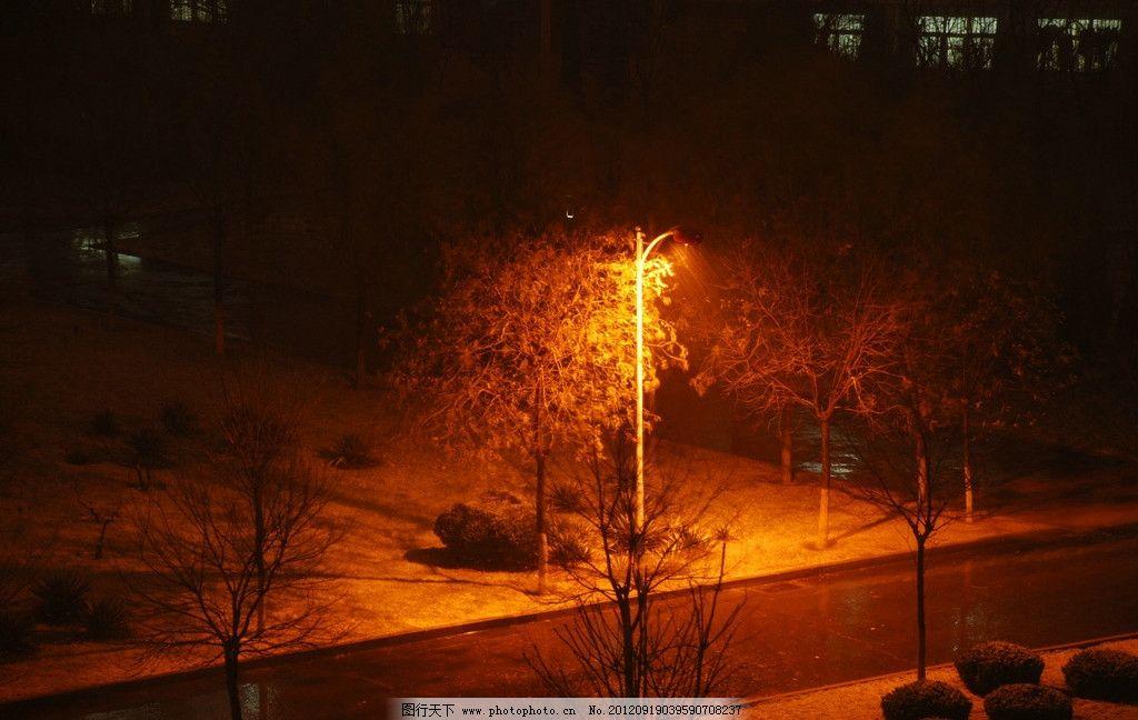 黑夜雨中风景图片