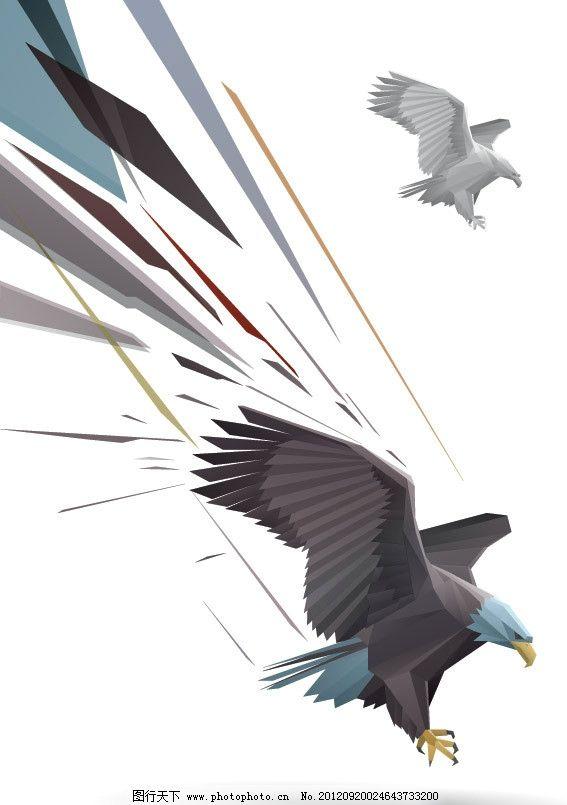 手绘老鹰 老鹰 飞翔 俯冲 动感 背景 矢量 鸟类 生物世界 eps