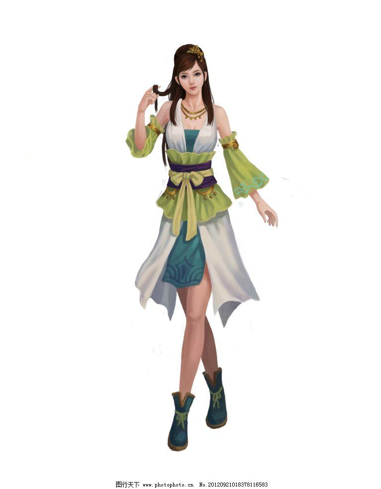 游戏美女 《大侠传》 女仆 游戏人物 初级 动漫人物 动漫动画 设计