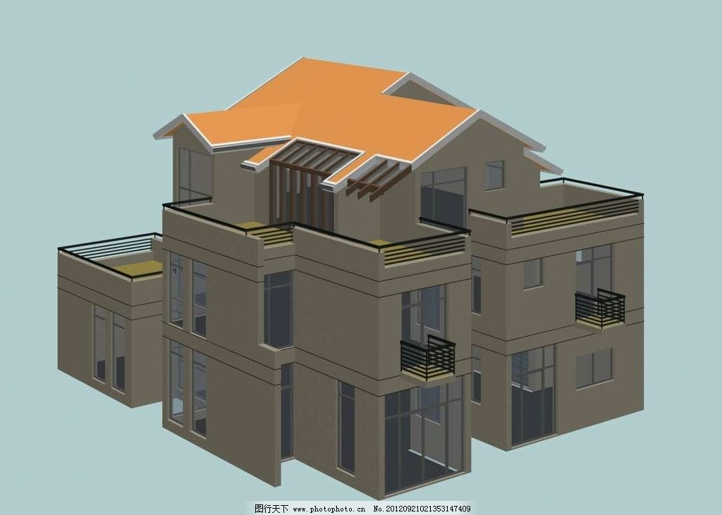 三维建筑模型 欧式