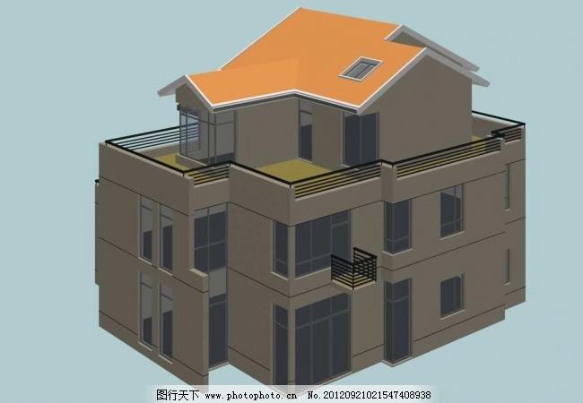 3D设计模型 max 窗户 欧式 室外模型 烟囱 阳台 源文件 独立式坡屋顶现代别墅模型 max模型 源文件 屋面 三层别墅 阳台 窗户 烟囱 三维建筑模型 欧式 室外模型 3d设计模型 max 3D模型素材 其他3D模型