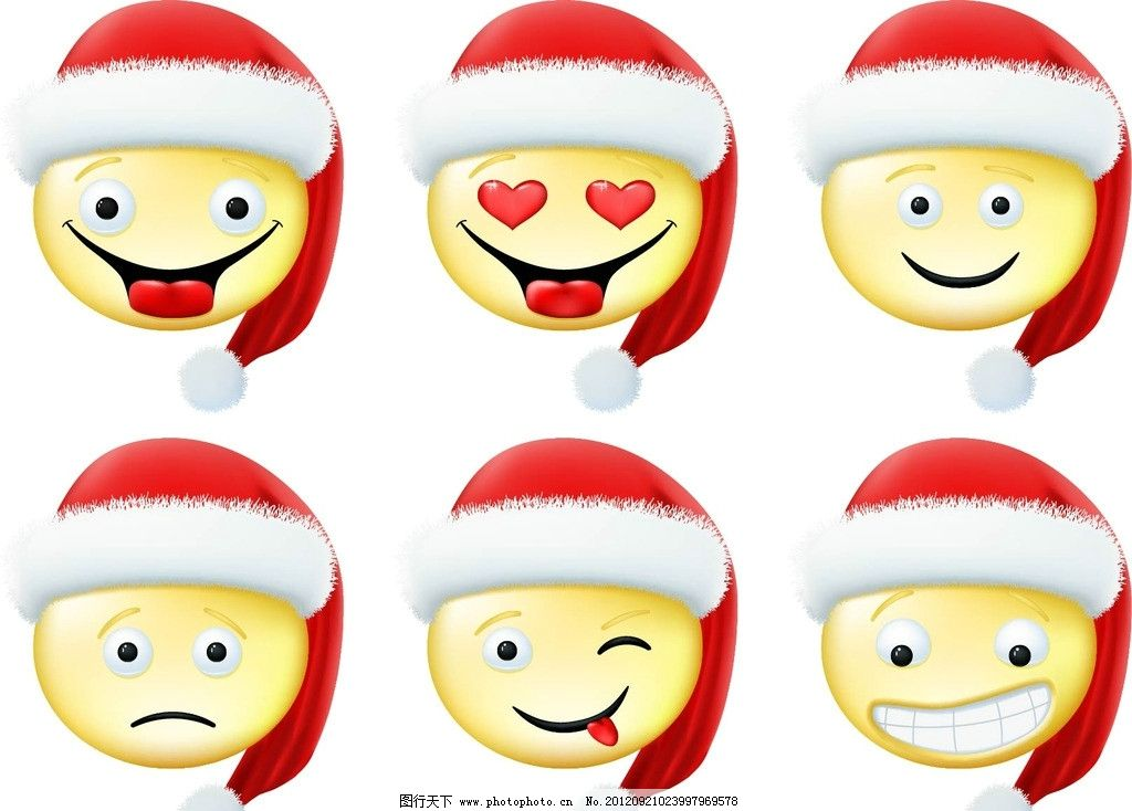 卡通笑脸 卡通 圣诞 可爱 红色 psd分层素材 源文件 300dpi 其他人物