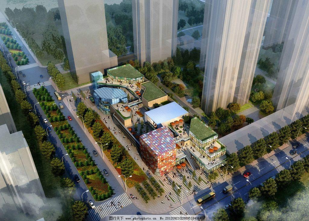 城市景观 建筑蓝图 建筑工程 商业效果图 商业街设计 模型 楼盘 楼宇