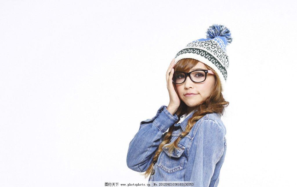 帽子 侧面 针织帽 美女 职业人物 人物图库 摄影 240dpi jpg