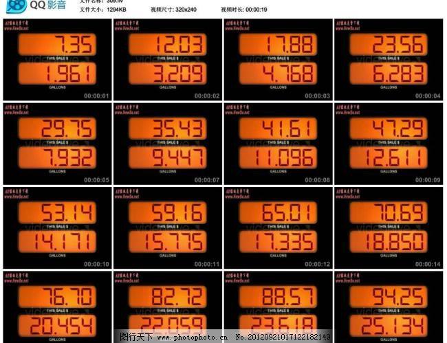 秒表计数器ae模版图片