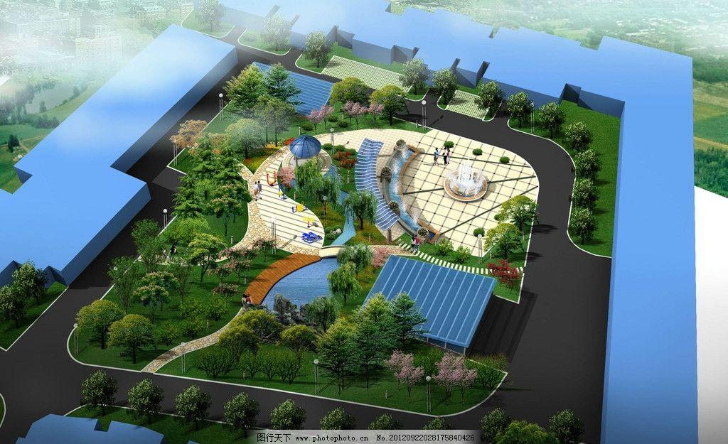 小区中庭景观 小区 中庭 景观 绿化 景观设计 环境设计 设计 72dpi