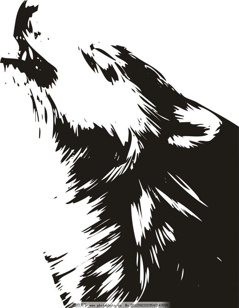 马克笔手绘 狼 森林
