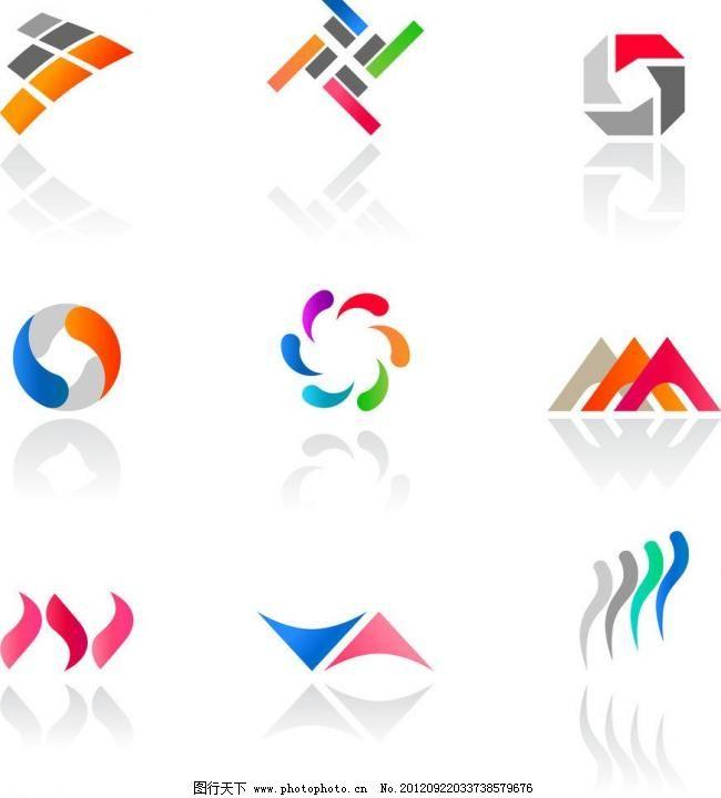 创意拼图logo设计图片 矢量