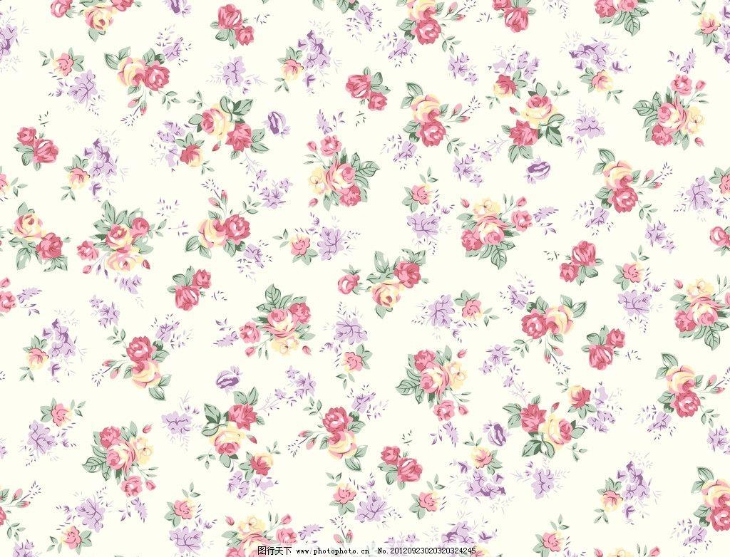 玫瑰花 小碎花 桌布 窗帘花 针织印花 圆网印花 花边花纹 底纹边框