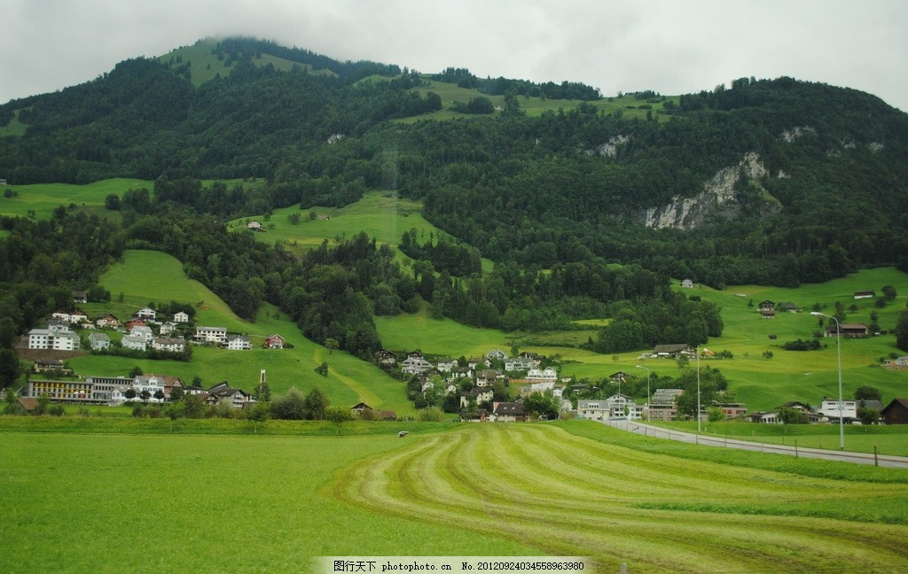 瑞士小镇田园风光