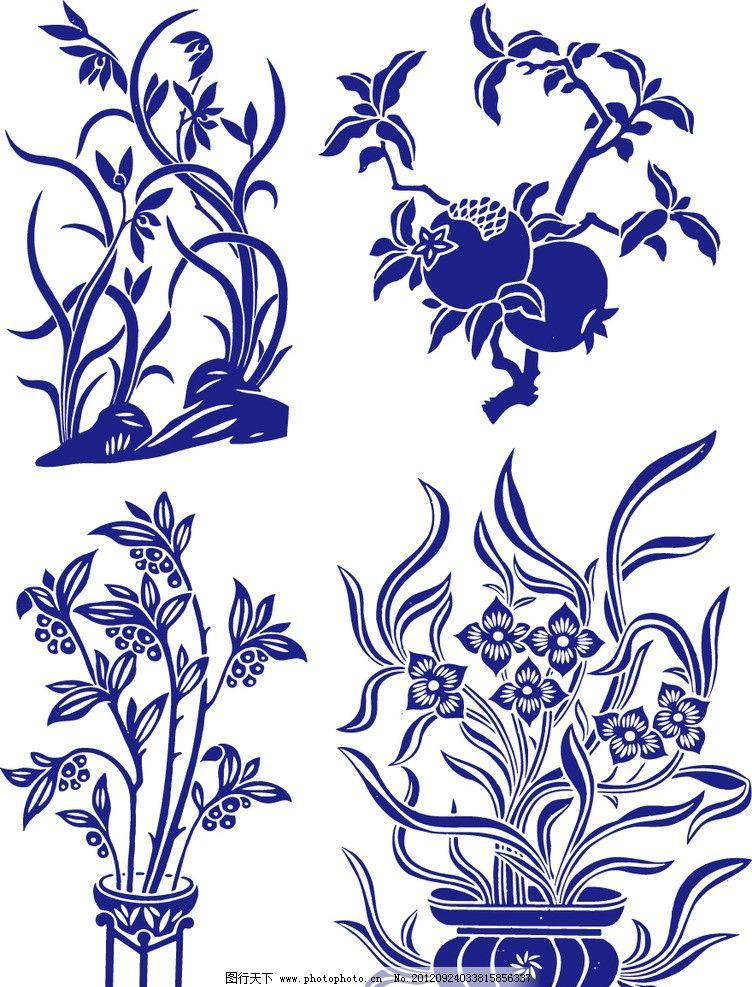手绘花纹 花卉