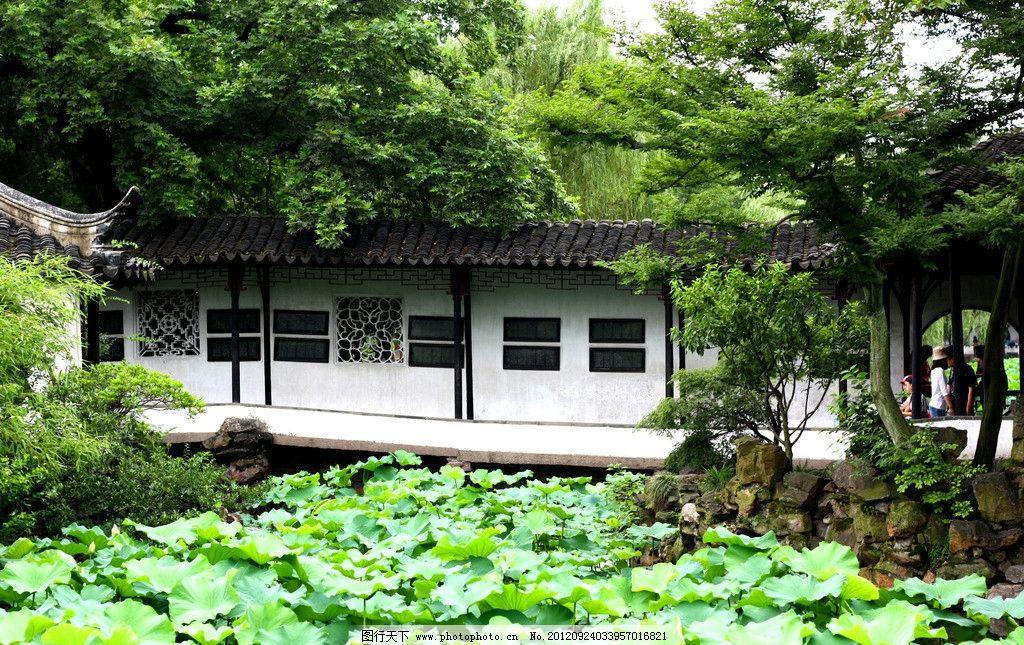 苏州江南园林的简笔画