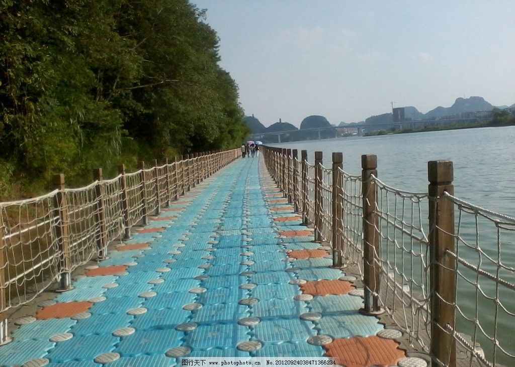 浮桥 柳江 大桥 其他 现代科技