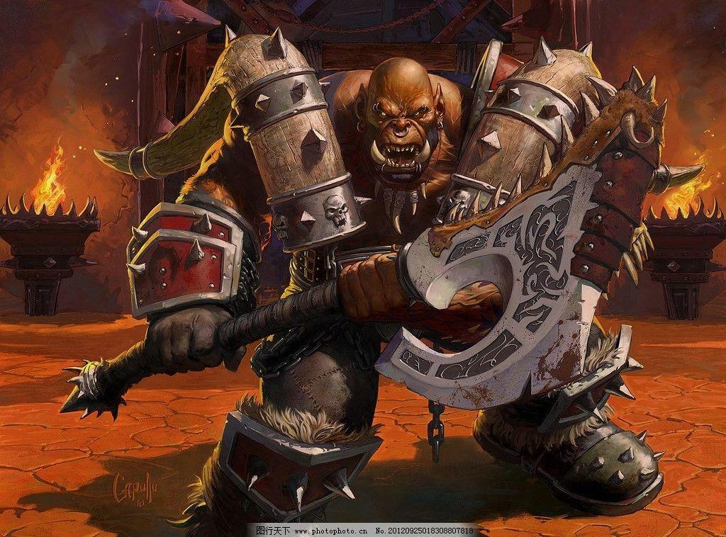 兽人战士的愤怒 魔兽世界 兽人战士 游戏 动漫人物 动漫动画 设计 400