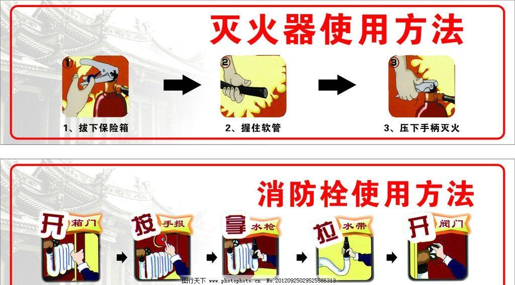 消防使用方法图片