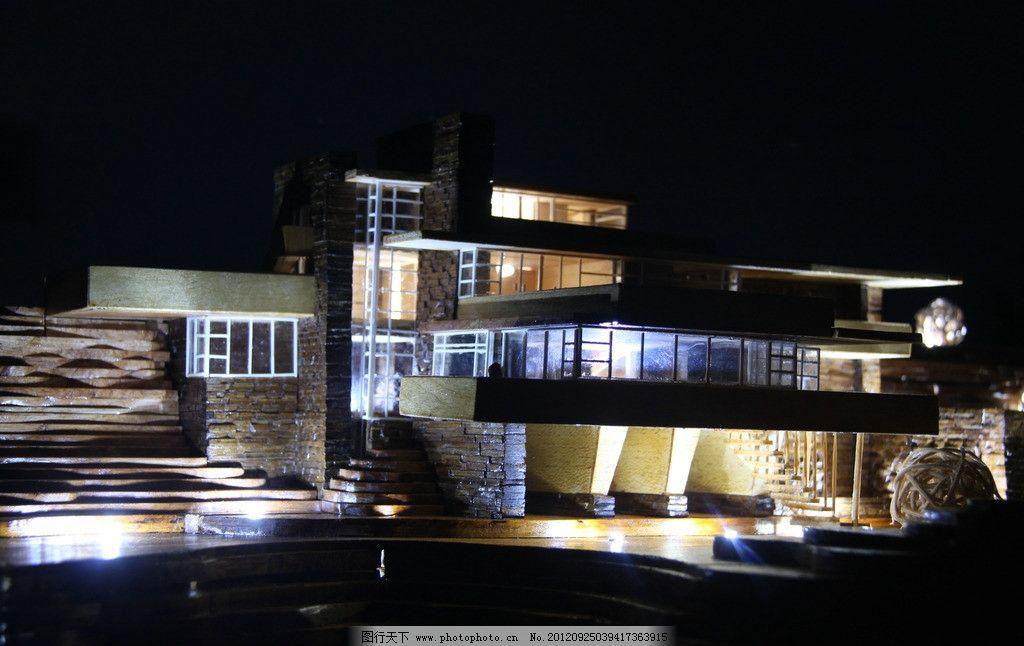 流水别墅 木制模型制作