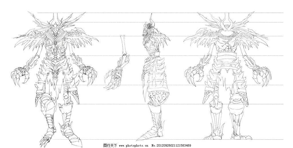 游戏角色 3d设计 三视图