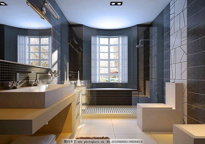 豪华卫生间 洗手间 室内效果 效果图 装修图 方案 资料 模型
