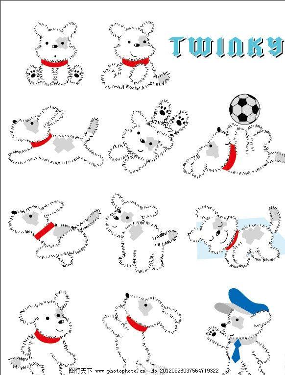 狗狗创意手绘插画