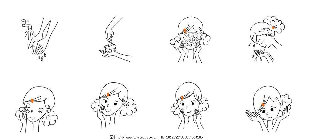 洗脸步骤及护肤流程图片