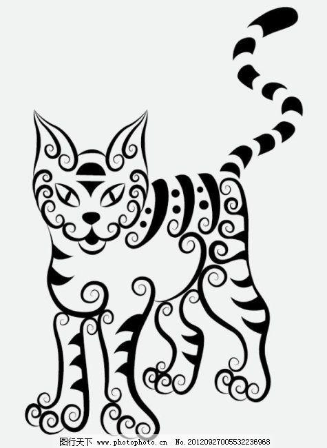 图案 图形 纹身 线稿 动物 花纹 剪影 手绘 图案 图形 刺青 纹身 线条
