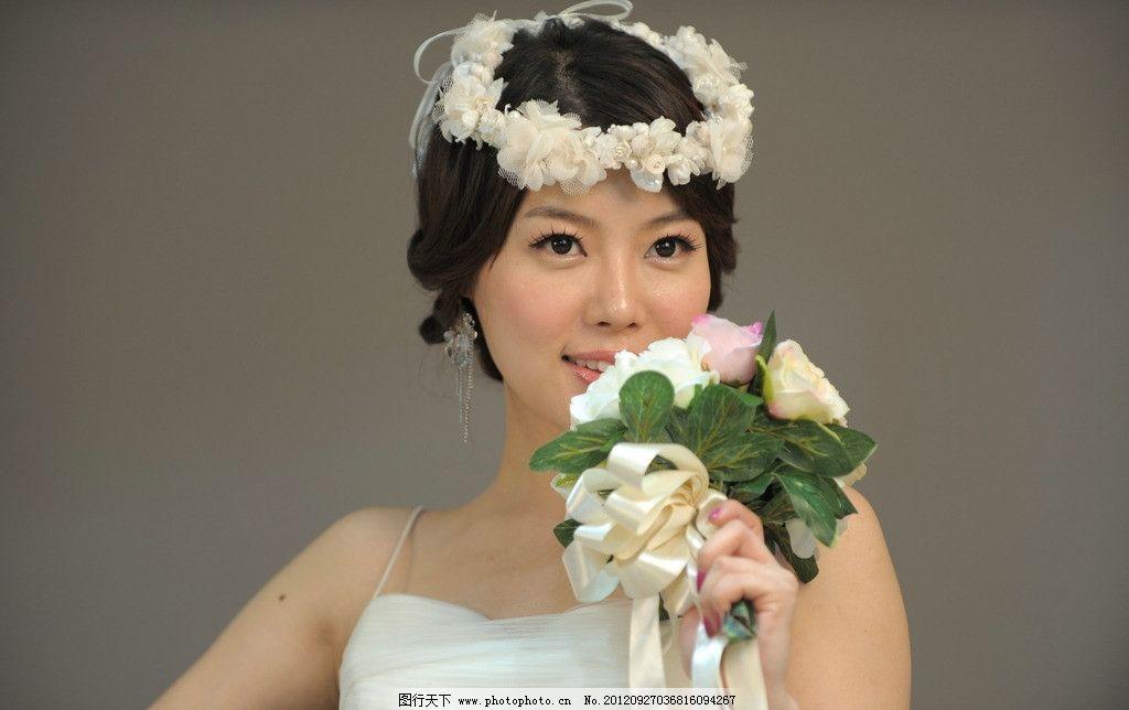 韩国美女的婚纱照图片,漂亮 可爱 靓女 女人 女性-图