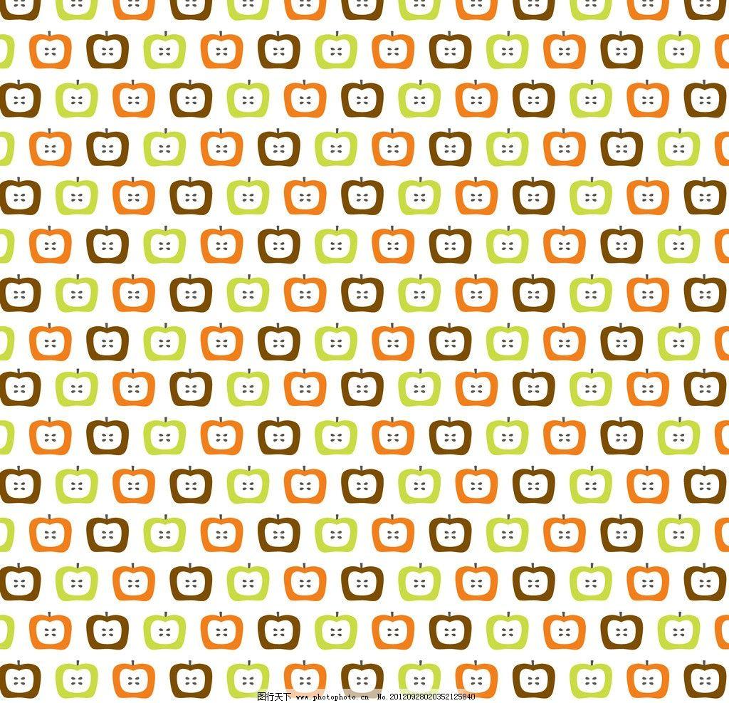 可爱切片苹果纸张 苹果 青苹果 红苹果 水果 切片 可爱 卡通 儿童