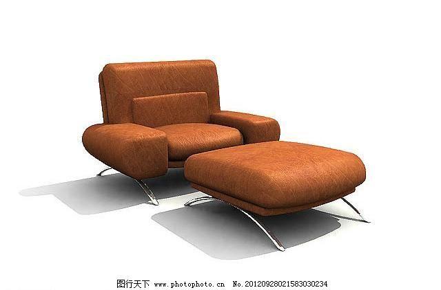 单人沙发 室内家具之沙发系列 室内模型 3d设计模型 3d模型素材 其他3